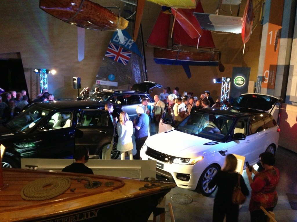 Audio-Visual Hire for Range Rover Sport Launch at Maritime Museum, Falmouth