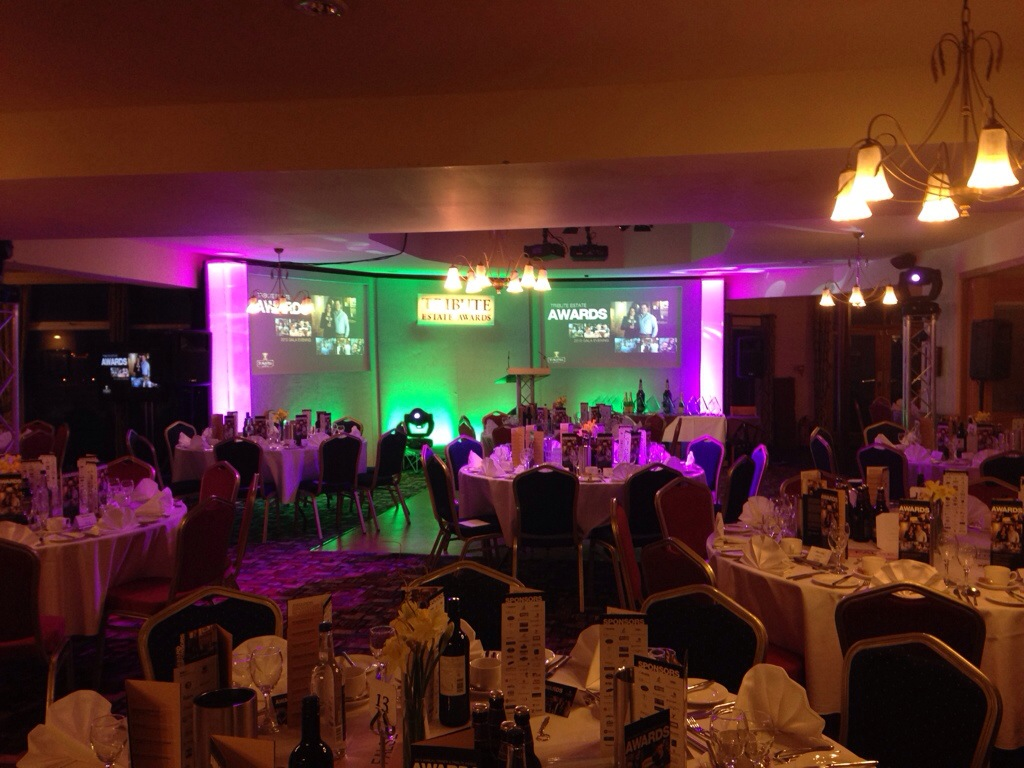 Audio-Visual Hire for Tribute Awards at Great Western Hotel, Newquay