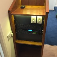 Bespoke handmade audio visual cabinet for funeral director in Wadebridge, Cornwall